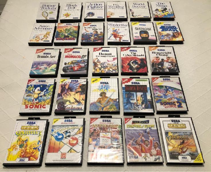 Lote 27 videojuegos sega master system