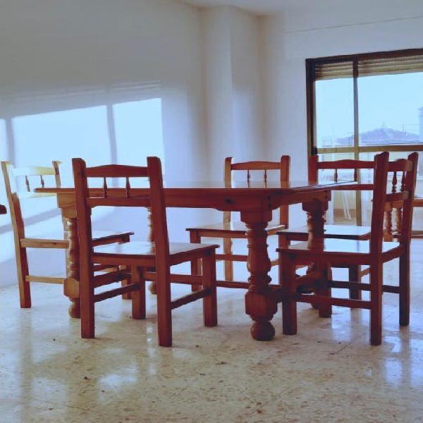Mesa comedor madera maciza estilo provenzal