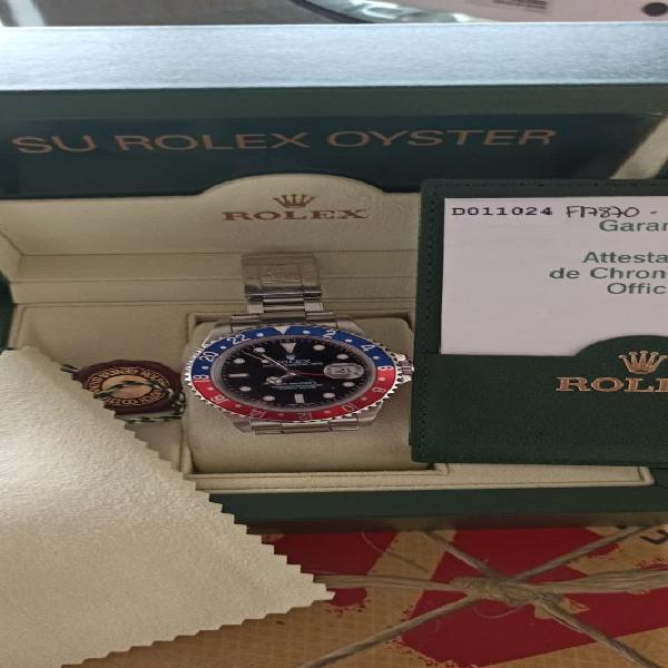 "Rolex gmt master ii ""pepsi"" stick dial año 2005"