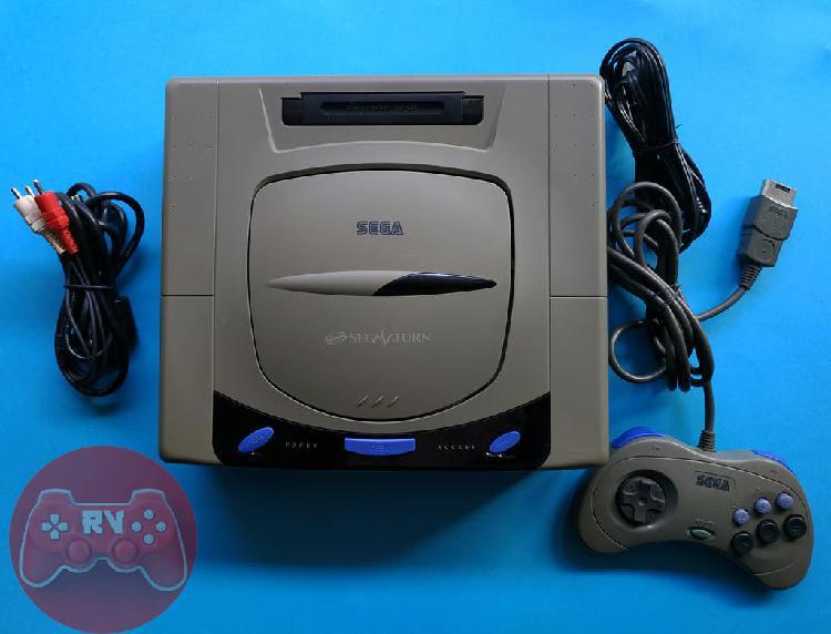 Sega saturn hst-3210 gris consola ntsc japonesa d