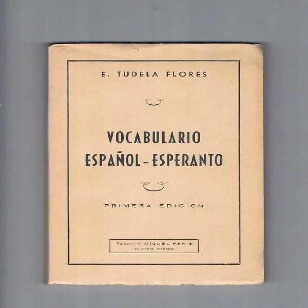 Vocabulario español esperanto ernesto tudela