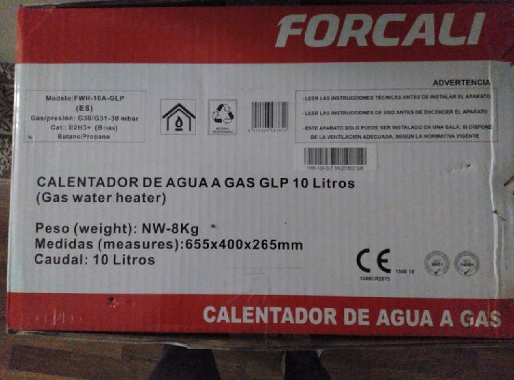 Calentador de agua con gas butano/propano