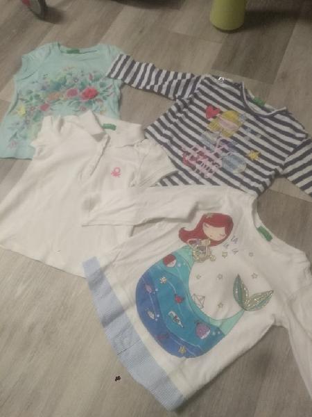 Lote camisetas benetton 12 meses