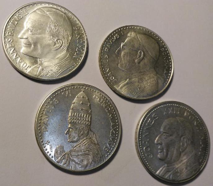 Monedas papas .