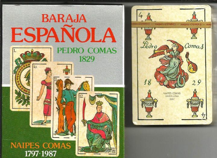 Baraja española pedro comas 1829 - naipes comas 1797-1987 -
