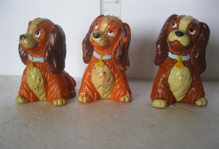 Bullyland lote de 3 perritos usados los de las fotos ver