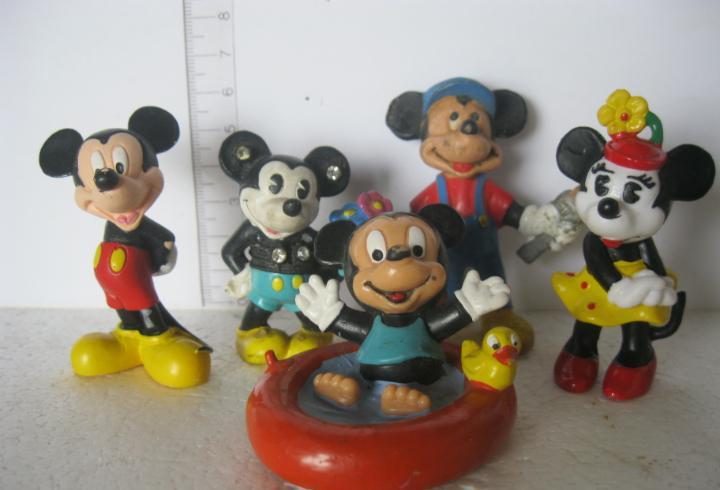 Bullyland lote de 5 mickey mouse usados los de las fotos ver