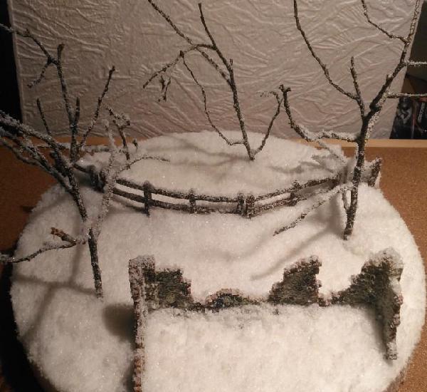 Base de nieve para dioramas 1/35...1/32....1/72 montada con