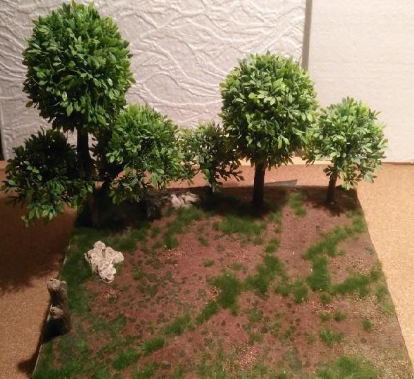 Base para dioramas 1/35...1/32....1/72 montada con detalles
