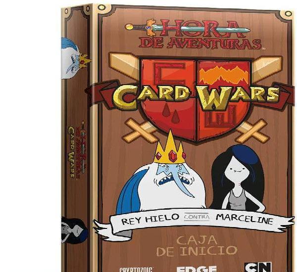 Card wars - rey hielo contra marceline - juego de mesa -