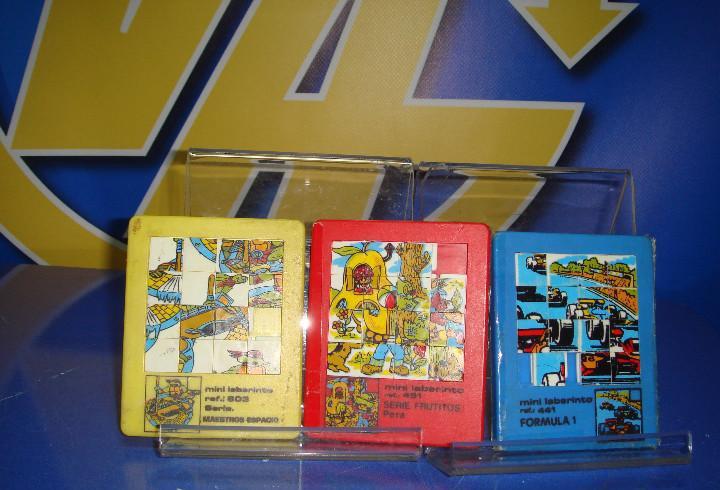 Juguete vintage-3 mini laberintos clasicos. tres diferentes