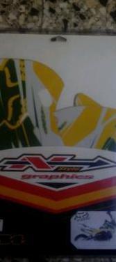 Kit adhesivos fox pit bike 110cc amarillo