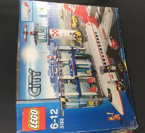 Lego city 3182-aeropuerto-torre de control y avión de