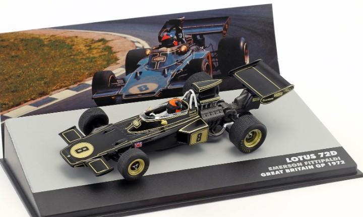 Lotus 72d formula 1 great britain gp (1972) altaya escala