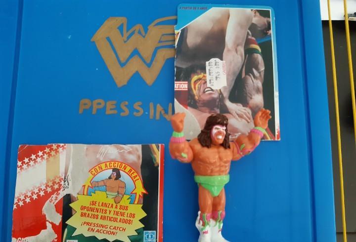 Muñeco figura pressing catch wwf world wrestling el ultimo