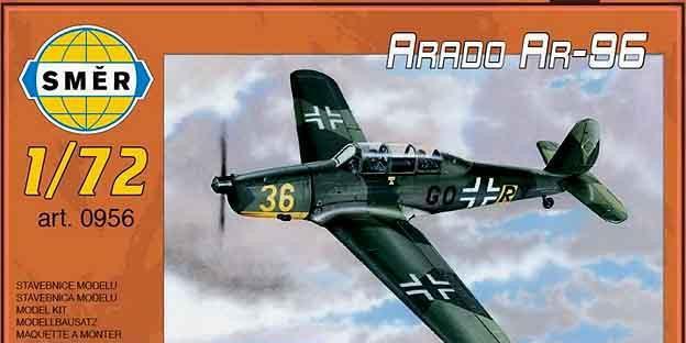Maqueta del entrenador avanzado alemán arado ar-96 de smer