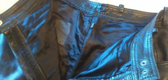 Pantalón de cuero mujer para moto