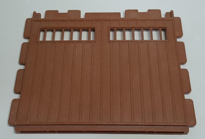Pared muro marron playmobil 3436 3554 pieza pony ranch