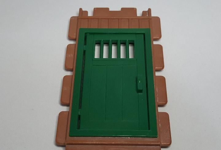 Pared muro puerta playmobil 3436 pieza verde pony ranch