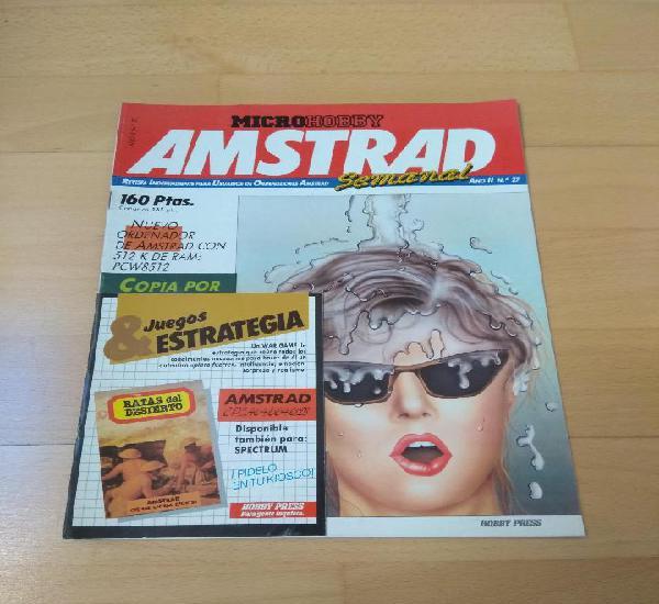 Revista ordenadores amstrad semanal número 27 micro hobby