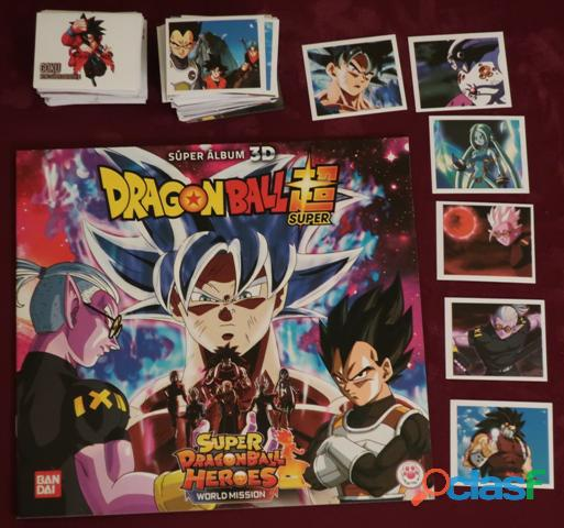 Lote cromos y album vacio super dragon ball heroes