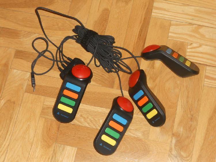 4 mandos buzz + 1 juego buzz! el gran concurso de