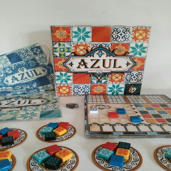 Azul juego de mesa colocación de losa