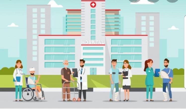 Aux enfermeria cuida pacientes en hospital
