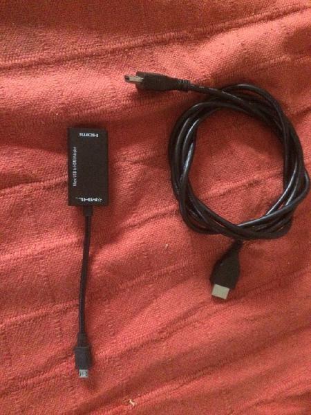 Cable para ver pantalla del móvil en la television