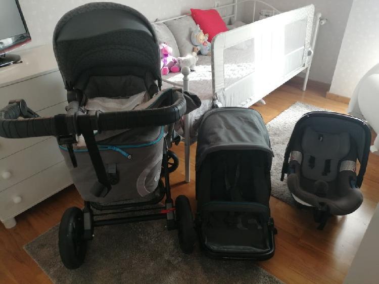 Carrito bebé compuesto por capazo silla y cuco. ch