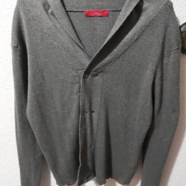 Chaqueta y vestido punto gris zara (4 euros)
