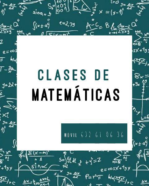 Clases matemáticas en poble nou