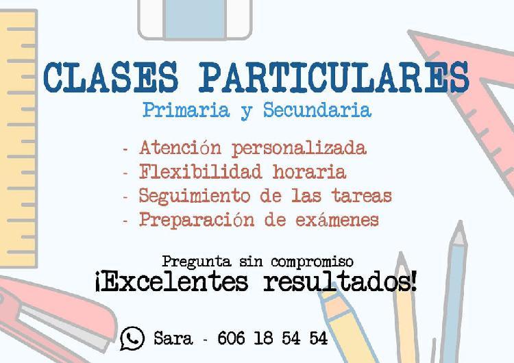 Clases particulares, primaria y secundaria