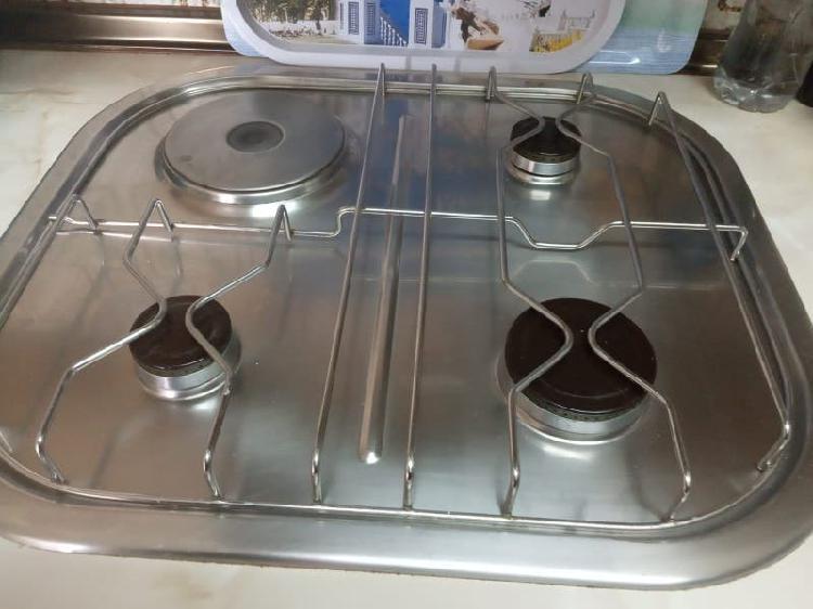 Cocina gas y placa electrica