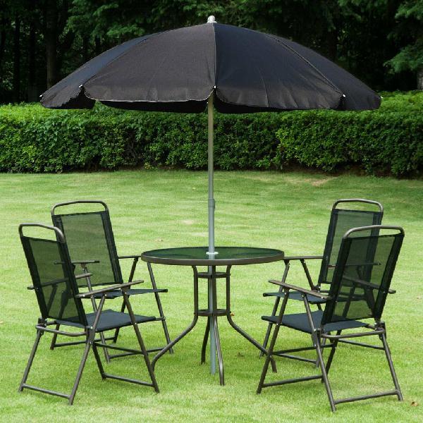 Conjunto de muebles para jardín con 4 sillas 1 mes
