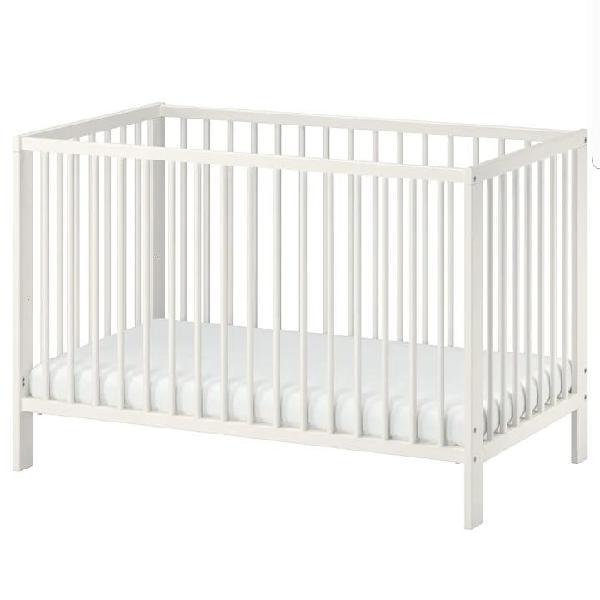 Cuna/cama bebé blanca ikea