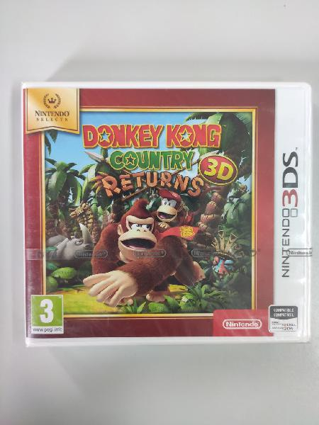 Donkey kong country returns - 3ds - nuevo