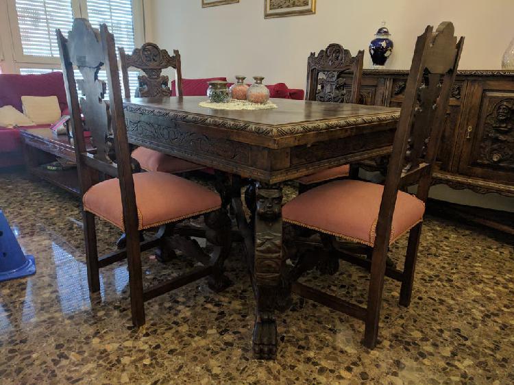 Muebles comedor antiguo de nogal