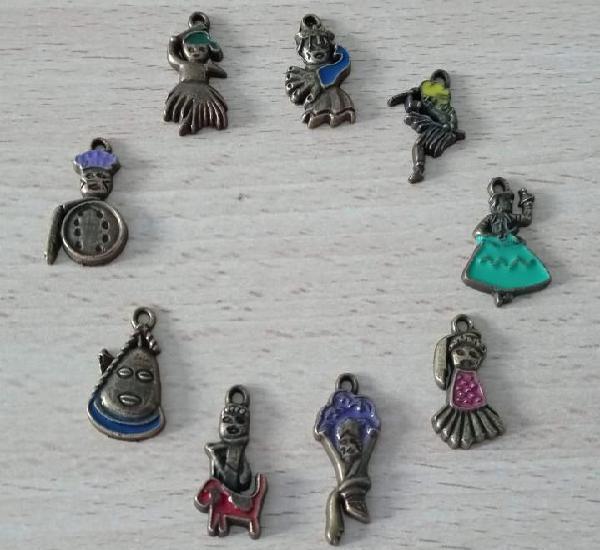 9 colgantes amuletos africanos (talismán)