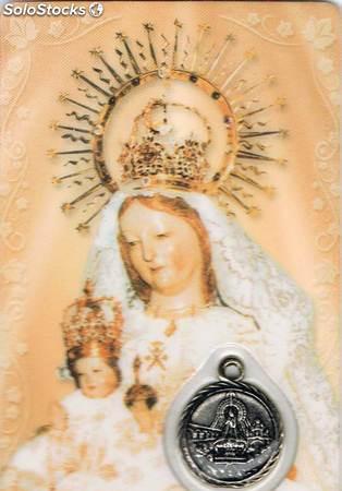 Estampa con medalla Virgen de la Fuencisla