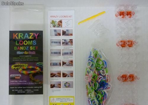 Set Krazy Looms Bandz - Pulseras de goma