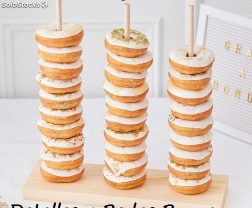 Soporte para Donut de Madera Candy Bar. Boda y Comunión
