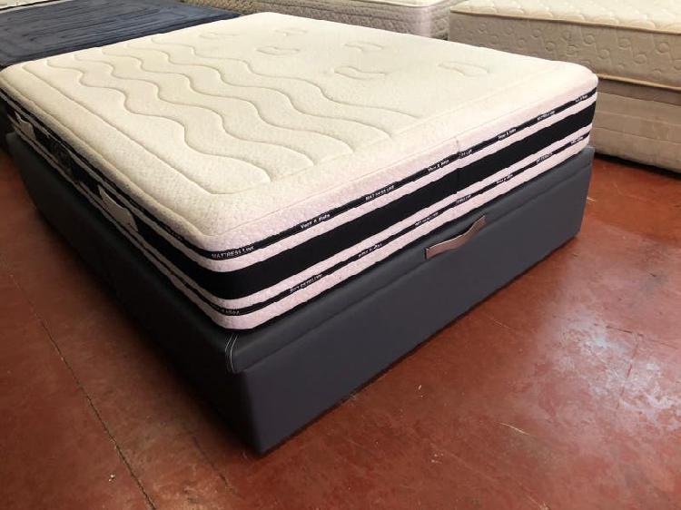 135x190 canape tapizado polipiel gris tapa enmarca