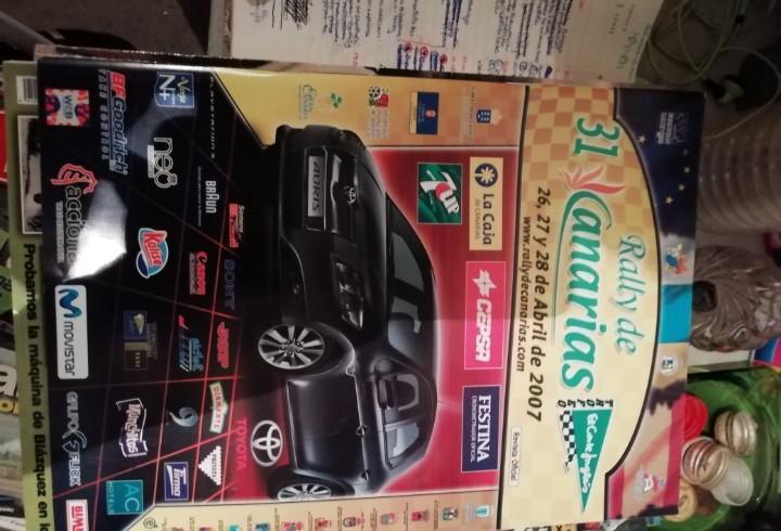Antigua revista de coches automóvil motor rally de canarias