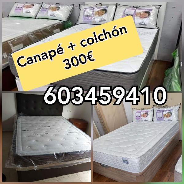 Canape + colchon viscoelástico + transporte