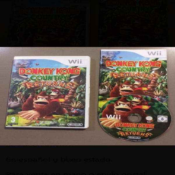 Donkey kong country returns para wii