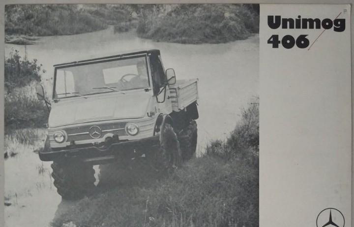 Folleto original de unimog 406 en francés - argentina