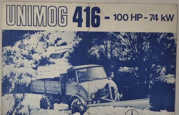 Folleto original de unimog 416 en castellano - 1977 -
