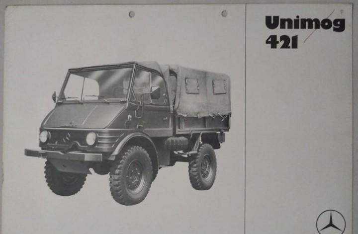 Folleto original de unimog 421 (de fabricación argentina).