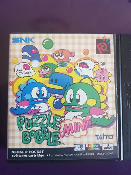 Juego neo geo pocket puzzle bobble mini